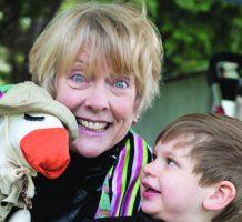 Ventriloquist loves to make children laugh