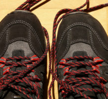 Creative shoe lacing helps ease foot pain
