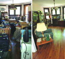 Decluttering frees space, lifts the soul