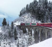 Enjoy winter's beauty from aboard a train