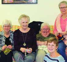 Crafty knitters supply art from the heart