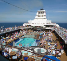 What happens aboard a cruise ship?
