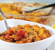 Colorful peppers with turkey casserole