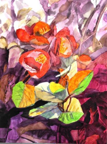 orange flowers — clara herner
