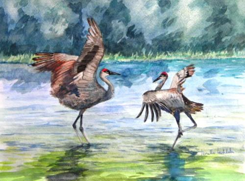 Sand Cranes — Loretta Lechlider