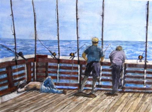 Relaxing on a Pier — Ann Pielert