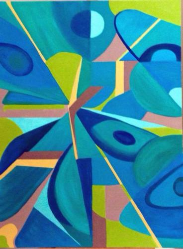 Blue Abstract — Eileen Lange