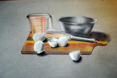 Cooking utensils and egg shells — Richard Marcis
