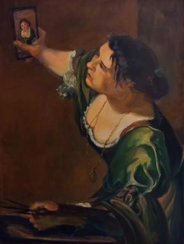 Artemisia's selfie (from Italian Baroque to Modern Times) — Nathalie Pouliquen