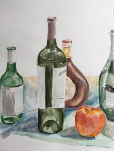 Apple with Bottles — Erica Ling