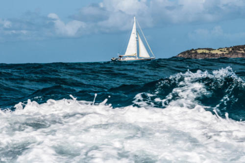 High Seas and Sailboat — Thomas Marchessault