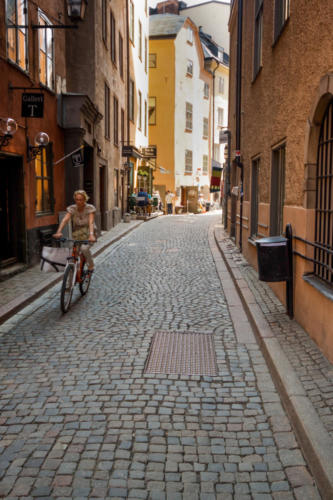 Woman on Bike Stockholm — Thomas Marchessault