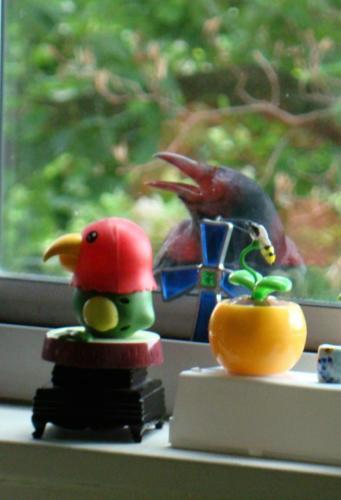 Singing Crow with New Friend — Pauline Anunciacion