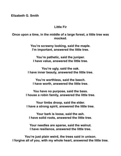 Little Fir — Elizabeth Smith