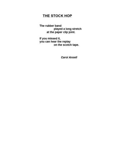 The Stock Hop — Carol Ansell