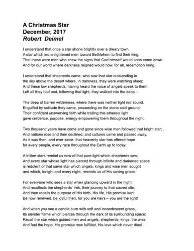 A Christmas Star — Robert Deimel
