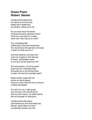 Ocean Poem — Robert Deimel