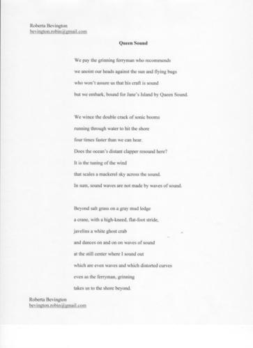 Queen Sound — Roberta Bevington