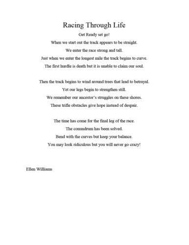 Racing Through Life — Ellen Williams