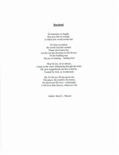 Rosebud — Karyl Moesel