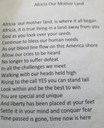 Africa Our Mother Land — Annue Varner