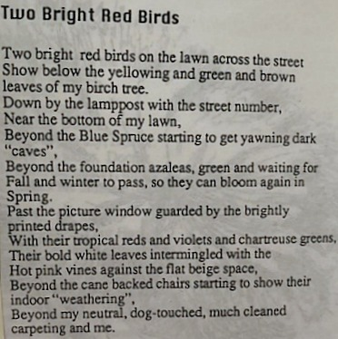 Two Bright Red Birds — Marilyn Simon